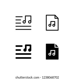 Lyric Icon Logo Vector Symbol. Playlist Icon