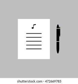 Lyric Writing Images, Stock Photos & Vectors | Shutterstock