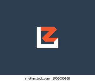 LZ letter logo design vector template