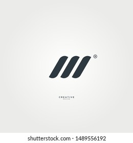 M abstract logo with elegant and sleek design. suitable for technology, sports and other logos.