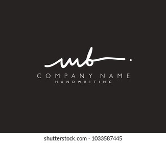 M B Initial handwriting logo