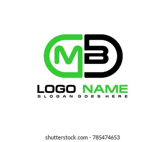 M B initial logo template vexctor