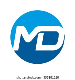 m and d logo vector.