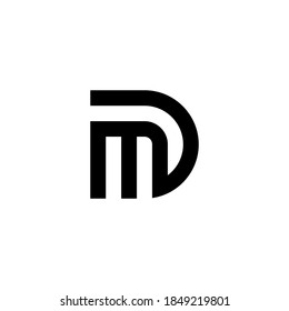 m d md dm initial logo design vector graphic idea creative