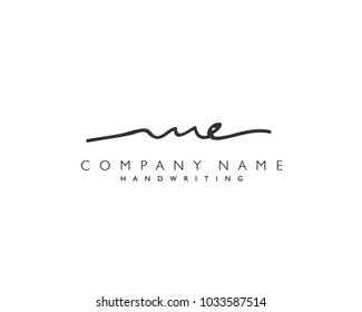 M E Initial handwriting logo