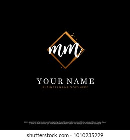 M M Initial abstract logo template vector