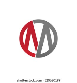 M initial circle company or MO OM logo red