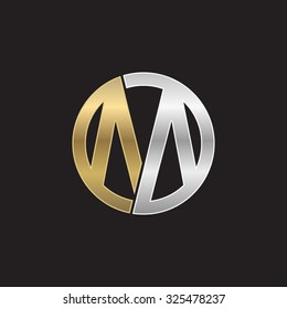 M initial circle company or MO OM logo black background