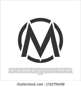 M Initial letter logo design, Creative Modern Letters Vector Icon Logo Illustration.