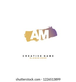 A M AM Initial logo template vector