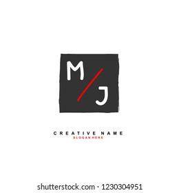 M J MJ Initial logo template vector