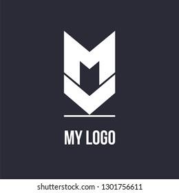 m k letter vector logo