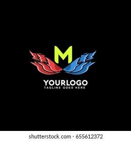 N Letter Fire Flame Logo Eye Stock Vector Royalty Free 655612360