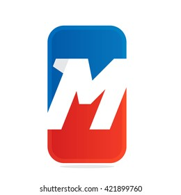 M letter for fitness, sport team or gym.
