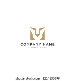 M letter with lion abstract Logo Template Design Vector, Emblem, Design Concept, Creative Symbol, Icon