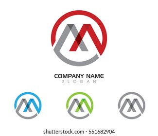 M Letter Logo Business professional logo template