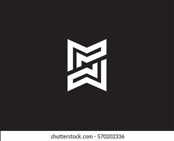 M & M Letter Logo concept. Premium Line Alphabet Monochrome Monogram emblem. Graphic Symbol for Corporate Business Identity. Vector graphic design template element