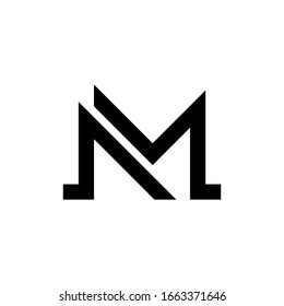 M letter logo consep icon template