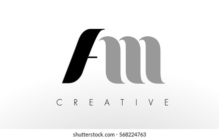 A M Letter Logo Design. Creative Modern AM Letters Icon Illustration.