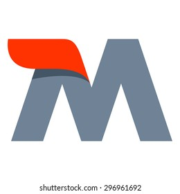 M letter logo design template. Fast speed vector unusual letter. Vector design template elements for your application or company.