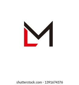 m letter logo font vector initial