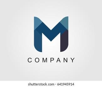 M Letter Logo Icon Mosaic Pattern Design template Element