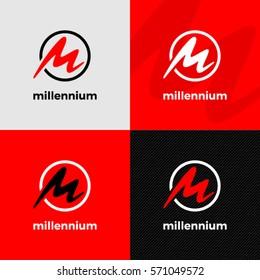 M letter logo. Millennium logo design.