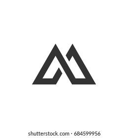 M Letter Logo Template Illustration Design. Vector EPS 10.