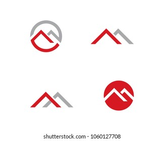 M Letter Logo Template Vector Illustration