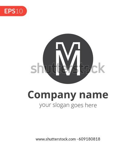 M M Letter Logo Vector Design Image Vectorielle De Stock Libre De
