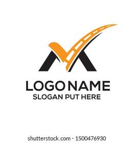 M Letter logo/identity design template for use transport business