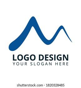 M Letter Medical Clinic Logo Design Vector