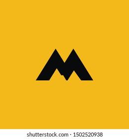M Letter Mountain Logo icon