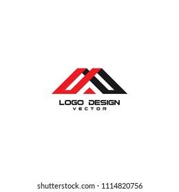 M Letter Real Estate Logo Design