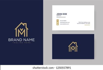 M Letter Real Estate Logo Design - Real estate logo.
