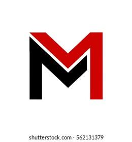 m letter vector logo