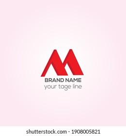 M letters vector logo design, Creative M 3D text initials logo design