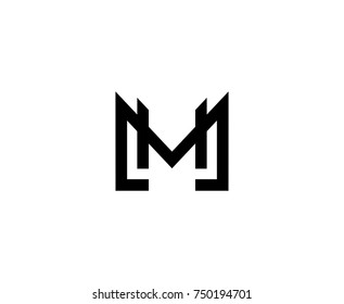 M Logo Monogram Blue Letter Stock Vector 638515597
