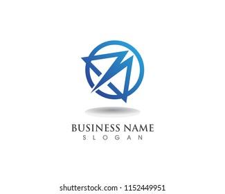 M logo business vector