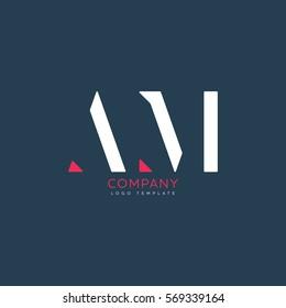 A M logo design for Corporate