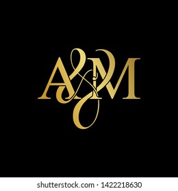 A & M / AM logo initial vector mark