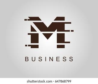 letter m logo icon design template のベクター画像素材 ロイヤリティ