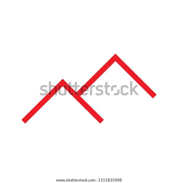 M Logo Letter Roof Design Stock Vector Royalty Free 1151835908