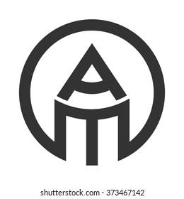 a and m logo vector. pencil logo.