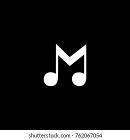 M logogram, for font M in your name logo with music theme