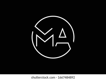 M A MA Initial Letter Logo design vector template, Graphic Alphabet Symbol for Corporate Business Identity