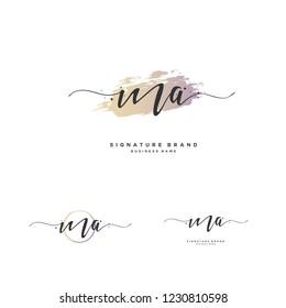 M A MA Initial logo template vector
