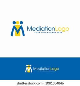 M Mediation Cooperation people Logo