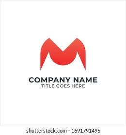 M modern letter logo design   M modern logo template