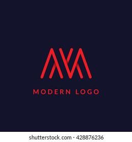 """""""M"""" monogram concept."""